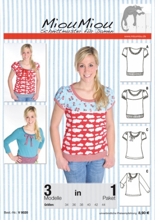 Shirt Emely Schnittmuster Miou Miou - Glücksmarie Onlineshop