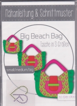 Big Beach Bag Schnittmuster Ki-ba-doo